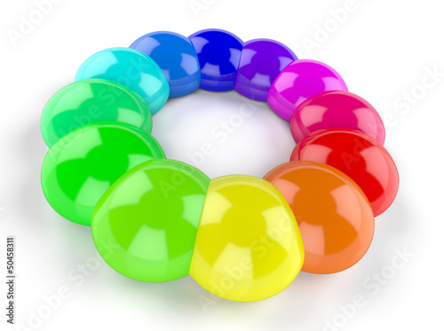 3D Symbol - Im Kreis der Farben