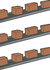 Boxes On Conveyer Belts