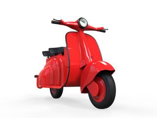 Red Old Vintage Scooter