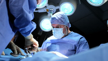 Surgical Team in Operating Theater
