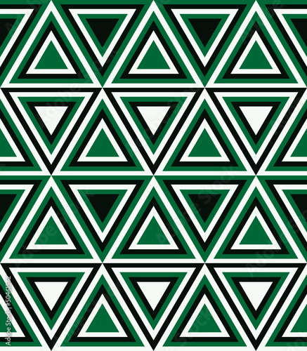 Tuinposter ZigZag Fashion pattern with triangles