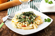 Pasta with ricotta and spinach