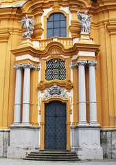 Melk Abbey Church details in Lower Austria.