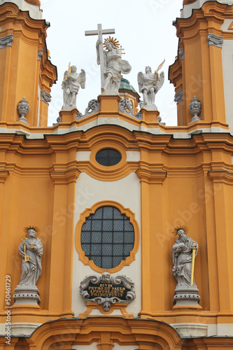 Melk Abbey Church details in Lower Austria