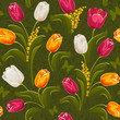 Tulips. Seamless background.