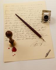Lettera antica con sigillo