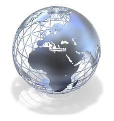 Metallic  Globe - Earth