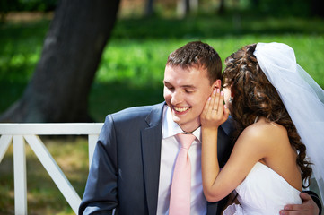 Bride says secret to groom