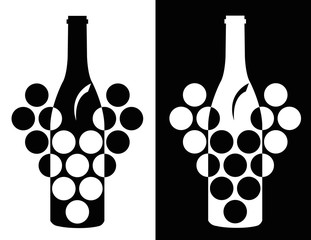 set of wine symbol