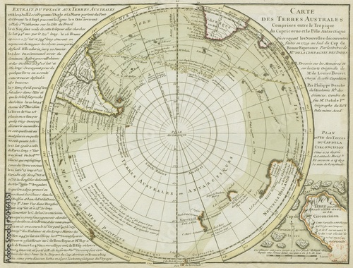 Antarctica old map