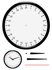 Horloge 24 heures à mettre à l'heure