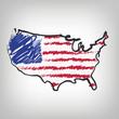 USA Karte Zeichnung