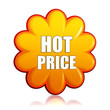 hot price orange flower label