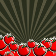 background with red tomatoes