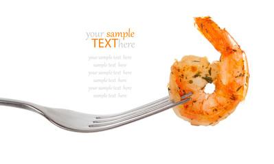 Shrimp Linguine on a fork,