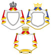 Wappen mit Mantel