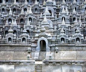 Buddist temple Borobudur. Yogyakarta. Java, Indonesia