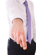 Businessman pointing with finger.