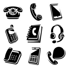 Phones set. vector icons