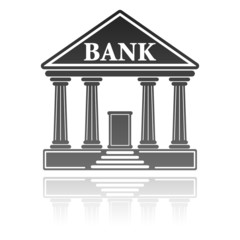 illustration with a bank