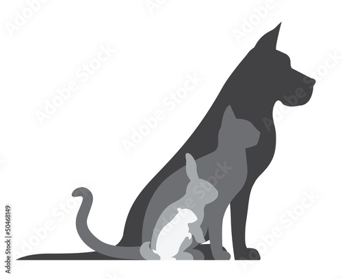 Animal Silhouettes Composition