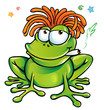 rasta frog cartoon