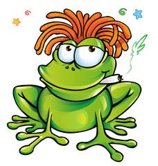 rasta frog cartoon