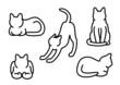 猫のアウトライン5種