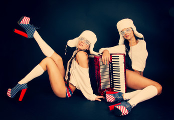 girls with accordion.