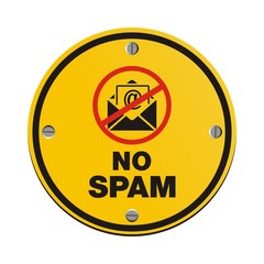 no spam circle sign