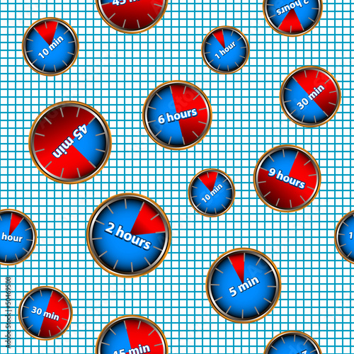 Seamless pattern with watches
