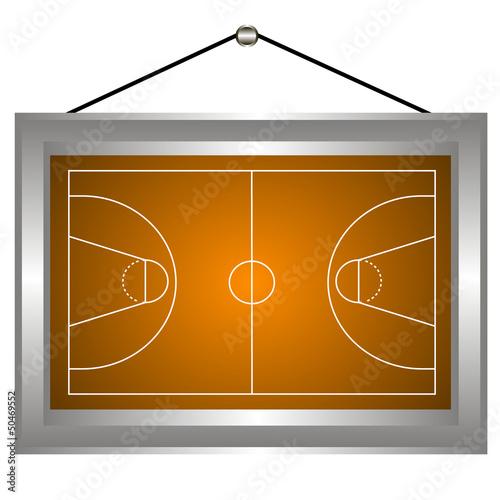 Basketball platform in a frame
