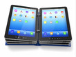 Opened book or folder from tablet pc