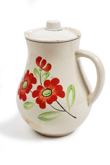 jug on the white background