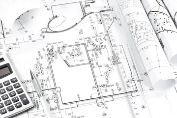 Architectural plan drawings