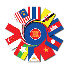 ASEAN flag icons
