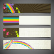 set of colorful retro banners