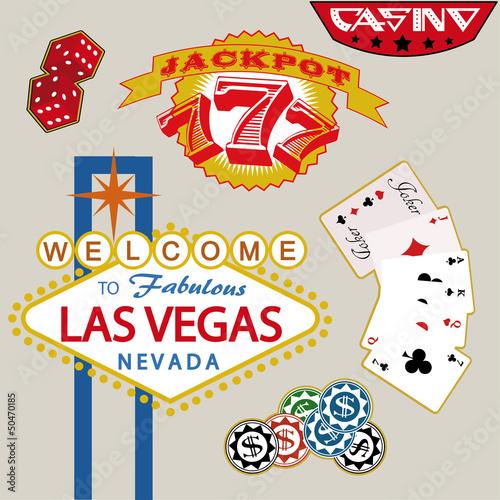 Casino Stickers. Vector Illustration