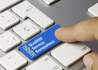 Qualität, Service, Kompetenz tastatur finger