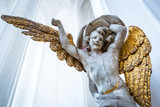 Angel in the interior of St. Mary's Basilica, Gdansk - Poland