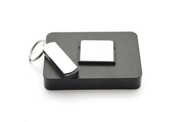 Externe Festplatte mit Speicherstick und Speicherkarte