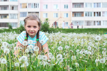 Child in the flowers