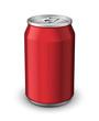 Red Aluminum Can