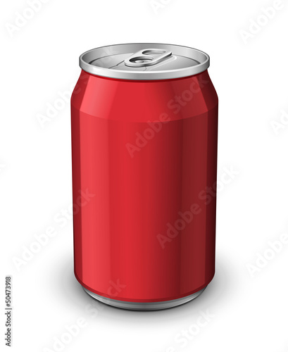 Red Aluminum Can
