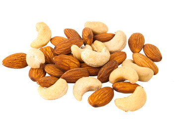 mixed nuts - hazelnuts, walnuts, almonds, pine nuts