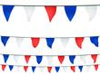 Fanions en bleu, blanc, rouge