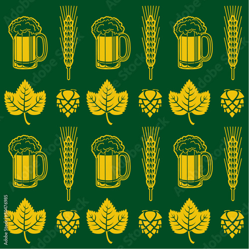 Beer Seamless Pattern