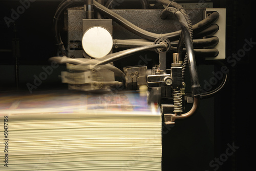 offset press printing, detail
