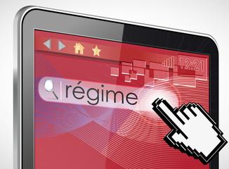 tablette tactile 3d recherche : régime