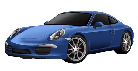 Blue exotic car